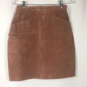 Swede leather banbagatelle size 10 pencil skirt c8